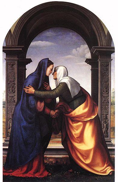 Mariotto Albertinelli, Visitazione,1503 - Wikicommons, pubblico dominio