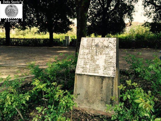 Monumento commemorativo di alcuni aviatori empolesi Caduti nella Prima Guerra mondiale, Parco della Rimembranza.