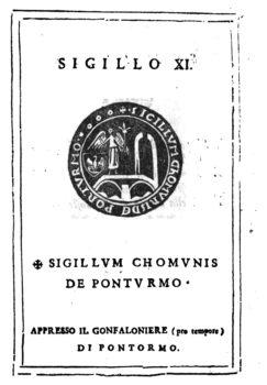 Osservazioni istoriche dei Sigilli antichi  Tomo VI   Sigillo n 11 - Domenico Maria Manni