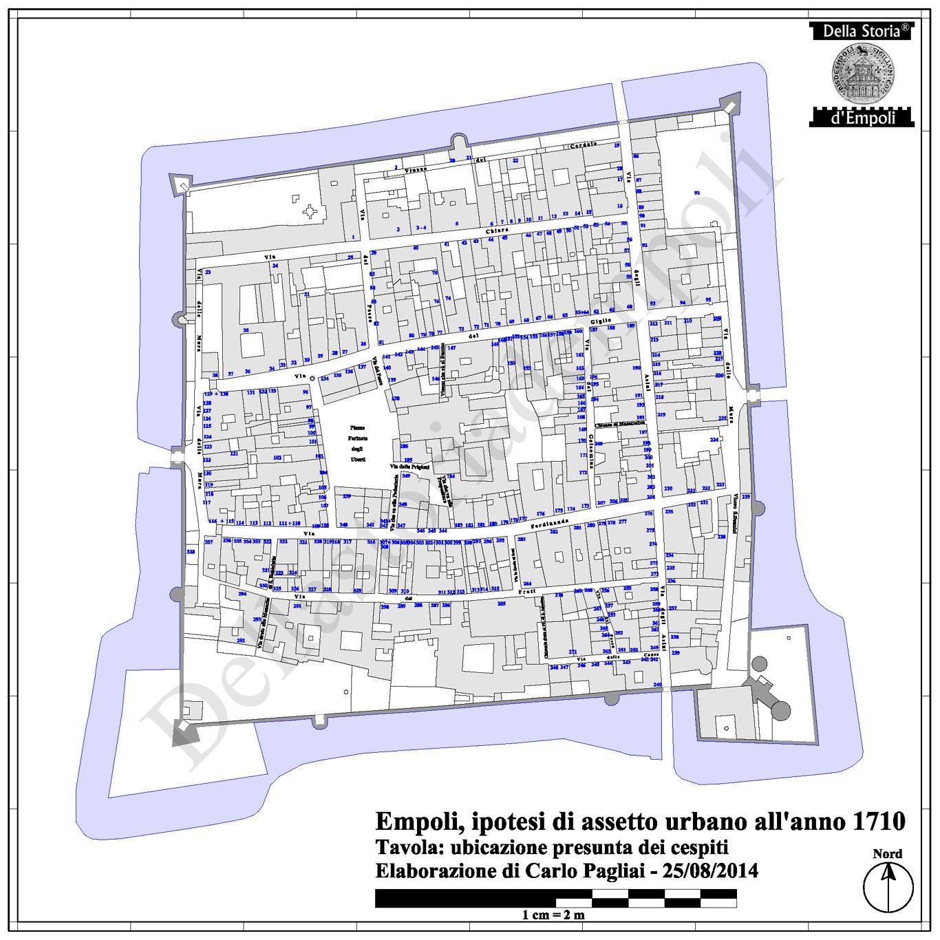 Empoli 1710: Tavola Ubicativa Dei Cespiti – Di C. Pagliai