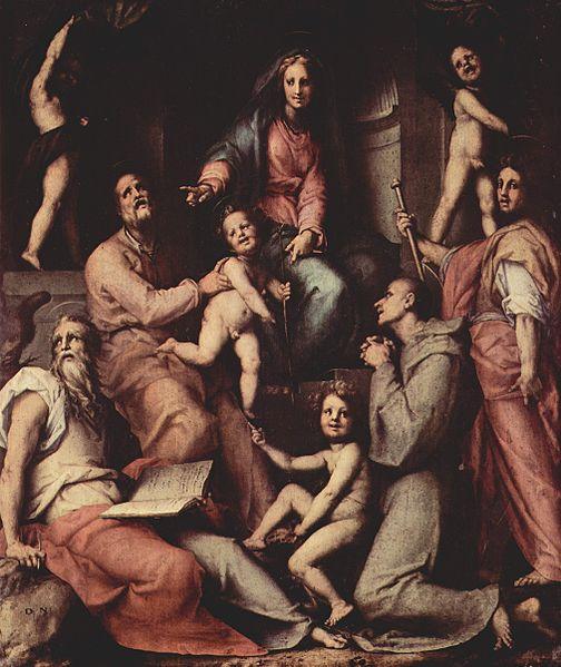 Pala Pucci, Jacopo Pontormo, 1518 - Wikipedia, pubblico dominio