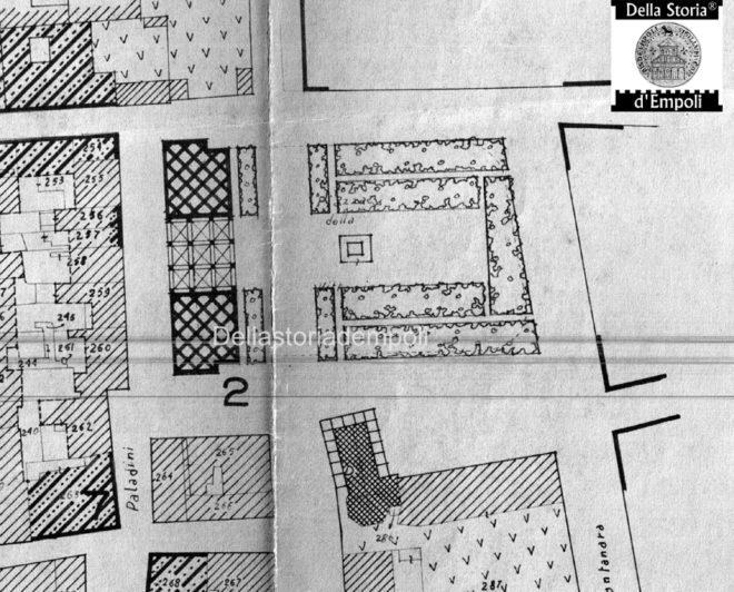 Piano di ricostruzione 1947 piazza della vittoria tagliata