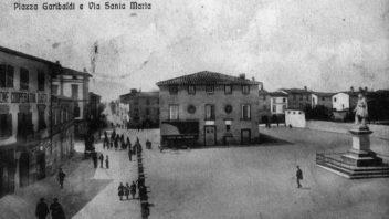 Fucecchio, Piazza Montanelli in una cartolina d'epoca