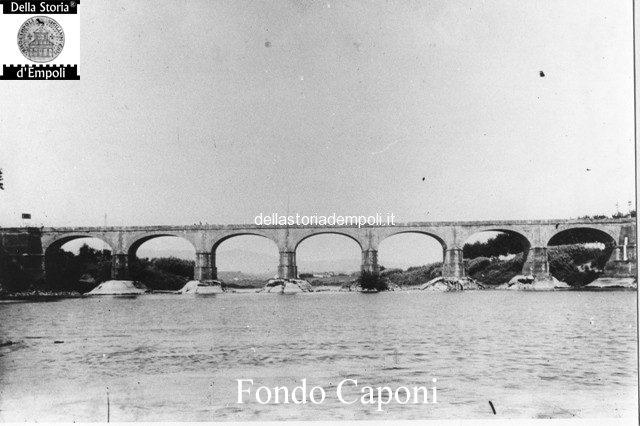 Ponte a sette archi sull'Arno a Marcignana