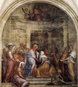 Pontormo, Visitazione, 1514-1516 - Wikicommons, Pubblico Dominio