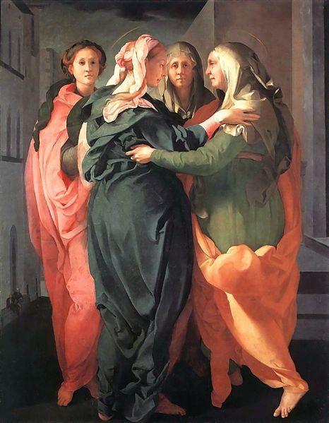 Pontormo, Visitazione di Carmignano, 1528-1529 - Wikicommons, pubblico dominio