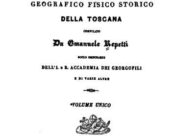 Dizionario Geografico Fisico Storico Della Toscana – Emanuele Repetti – Monterappoli