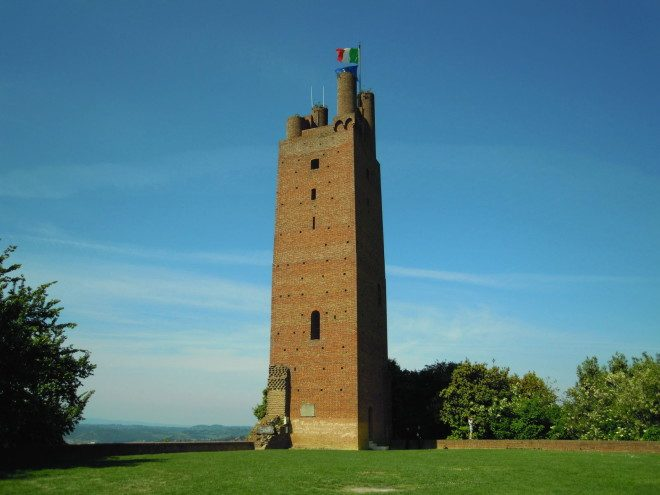 Rocca di San Miniato Torre di Federico II di Svevia Medieval Tower Tuscany bricks tower