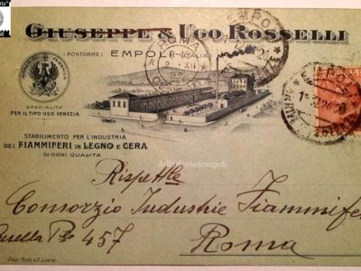 Cartolina D'epoca: Industrie Rosselli Fiammiferi Di Pontorme