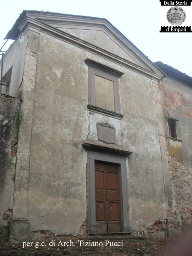 La chiesa prima del recente intervento di ristrutturazione - Foto Arch. Pucci Tiziano