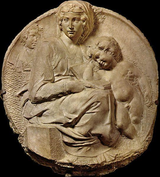 Tondo Pitti, di Michelangelo - 1503-1505 circa - Wikipedia, pubblico dominio