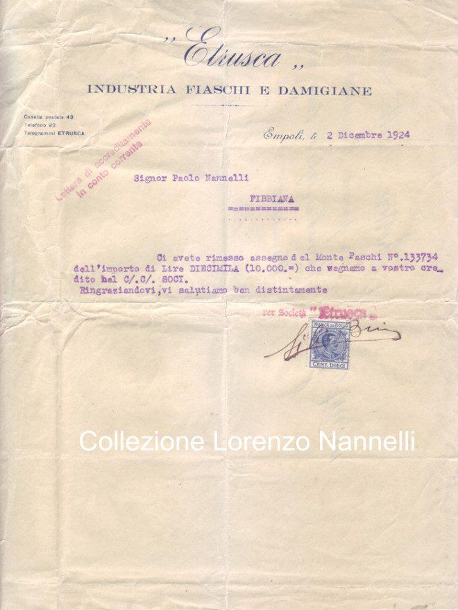 Vetreria Etrusca 2.12.1924