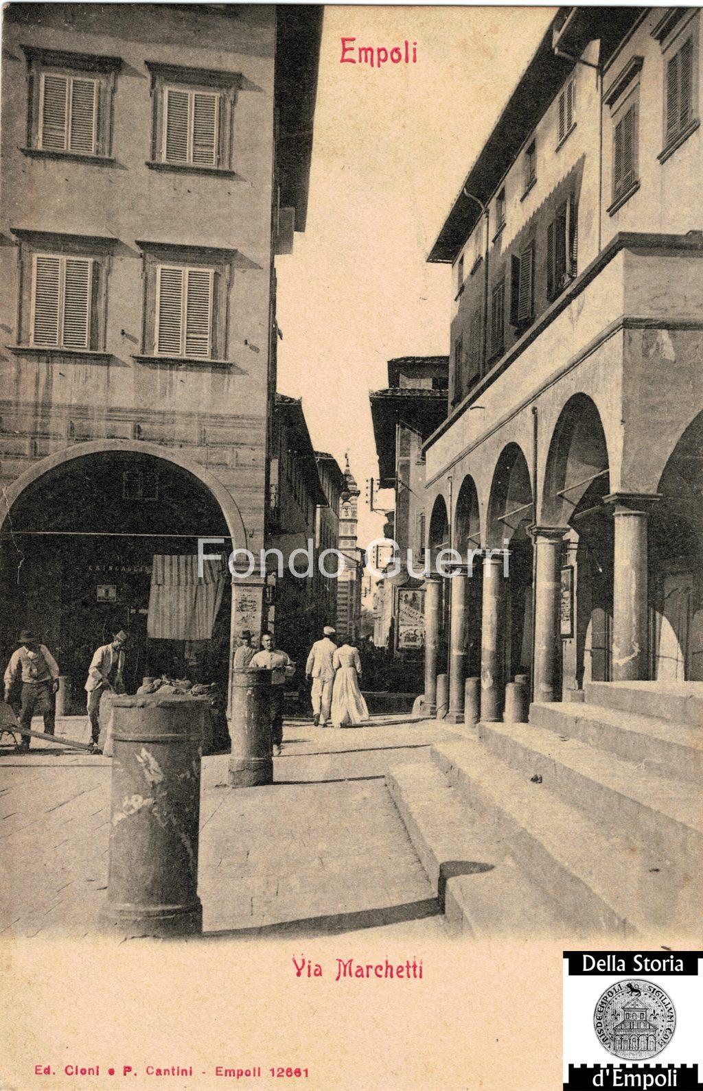 Via Marchetti Inquadrata Da Piazza Dei Leoni By Parisio Cantini E F.lli Cioni