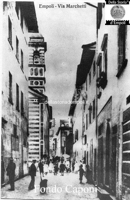 Via Marchetti incrocio via chiara e chiesa Madonna della Quiete