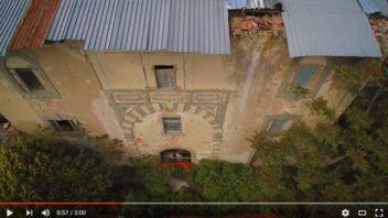 Volando sull'Arno e sulla Villa Porto dei Frescobaldi a Capraia