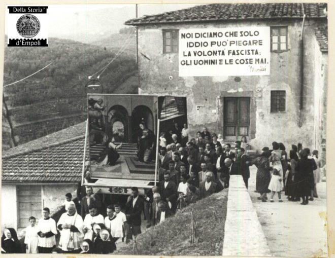 Vinci - processione della Madonna