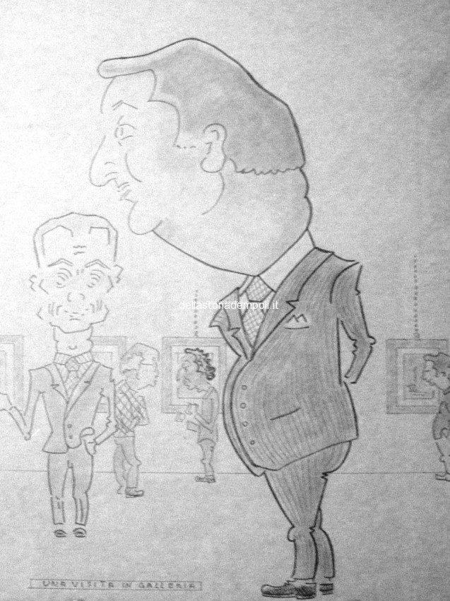 Vincenzo Martini: Caricatura Di Beppino Taviani