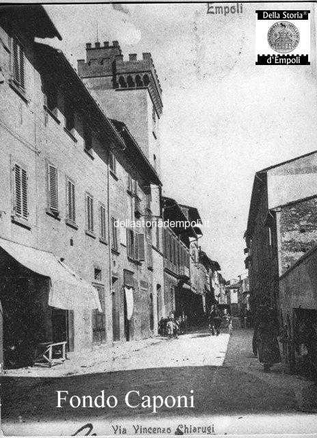 Fondo Caponi Empoli, Vol 1 Pagina 12:  Via Chiarugi, Viale IV Novembre, Piaggione E Piazza Vittorio Emanuele II°