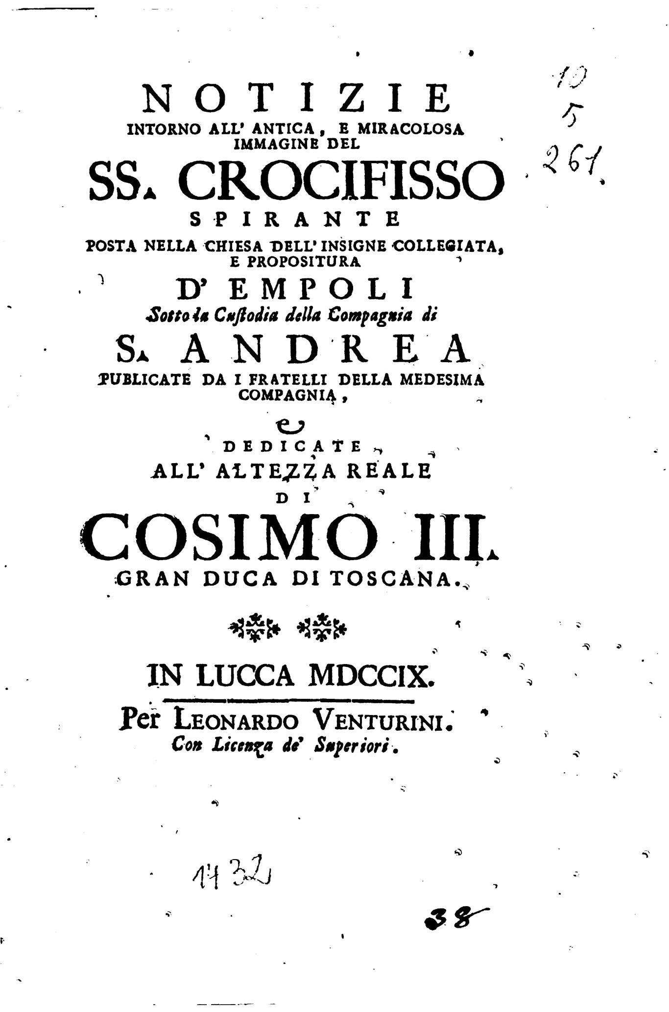 Copertina Manoscritto Originale
