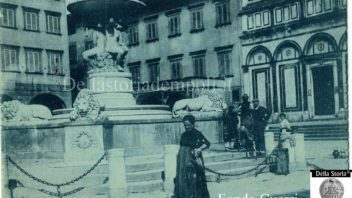 Piazza dei Leoni e fontana del Pampaloni