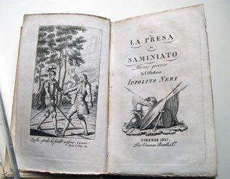 """Il Fondo Antico Della 'Fucini' Si Arricchisce Con """"La Presa Di Saminiato"""" Edizione Fiorentina Di Batelli Del 1827"""