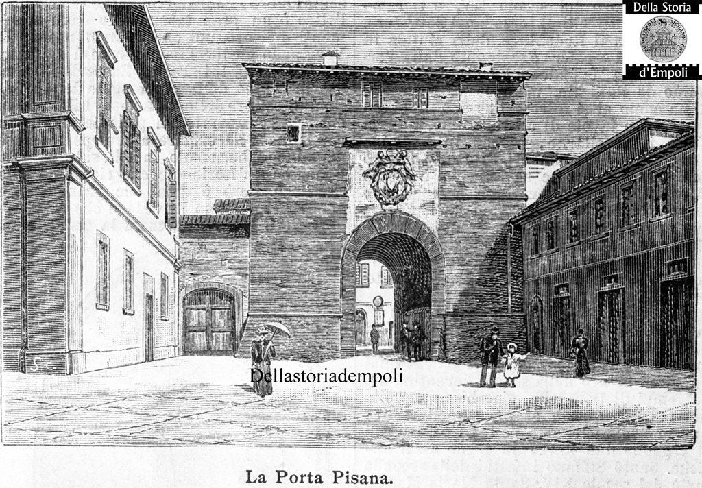 Incisione Di Porta Pisana  #  Della Storia D'Empoli