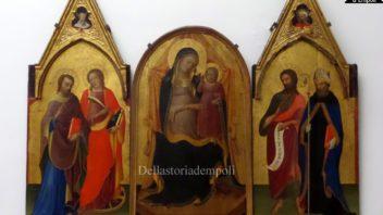 Lorenzo Monaco e Paolo Schiavo, trittico Madonna col Bambino tra i santi Giovanni Evangelista e Caterina, Giovanni Battista e Agostino