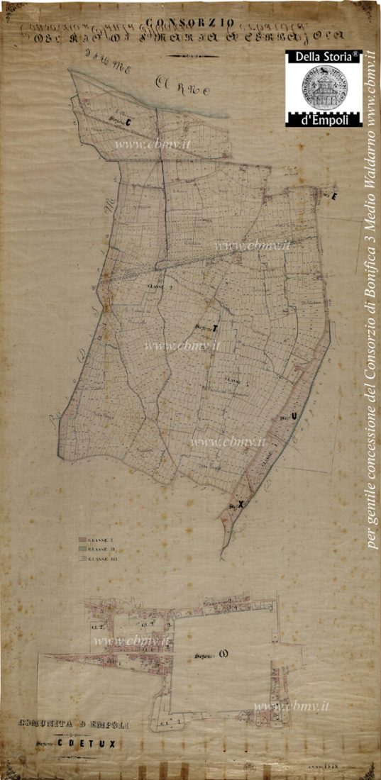 mappa n 05 Consorzio del Rio di S. Maria a Cerbajola 1878