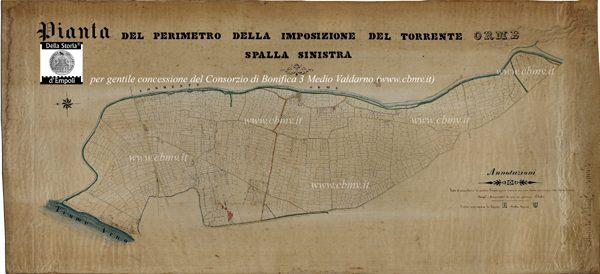 mappa n 06 Imposizione Orme spalla sinistra, non datata