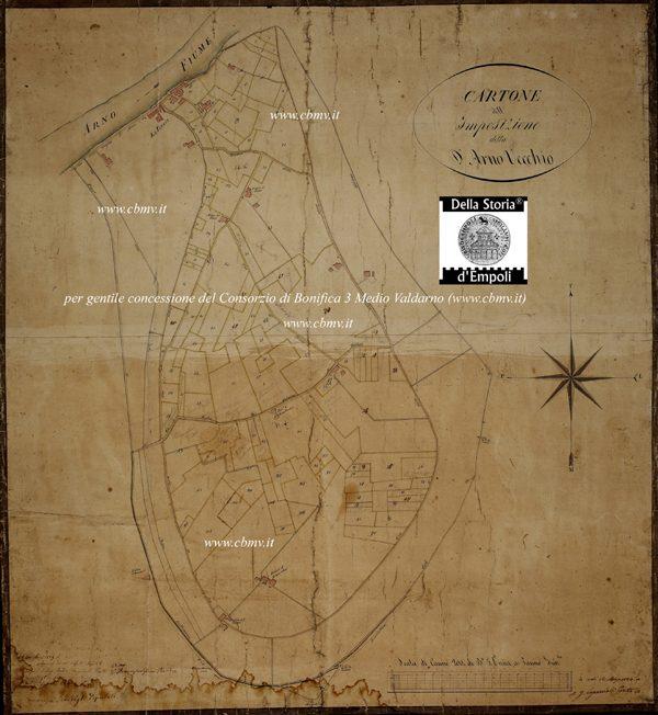 mappa n 10 Imposizione Arno Vecchio 1824