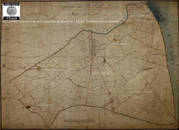 mappa n 14 Imposizione dei Rii Romito e Mosca, prima metà XIX sec.
