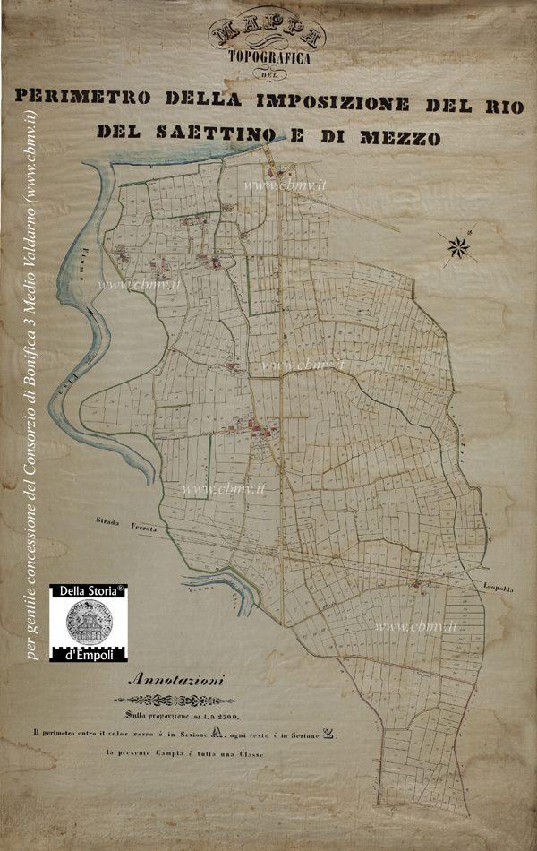 mappa n 15 Imposizione dei Rii di Saettino e di Mezzo (Marcignana) non datata