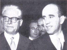 Mario Bini, insieme al Presidente Gronchi