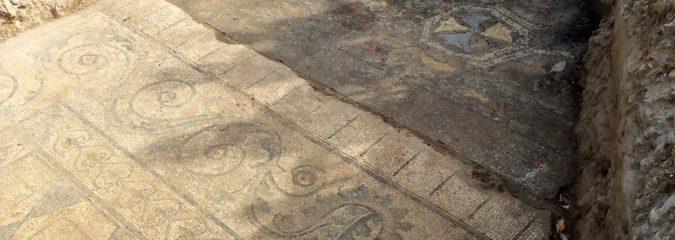 mosaico romano a Limite Via Palandri - 2