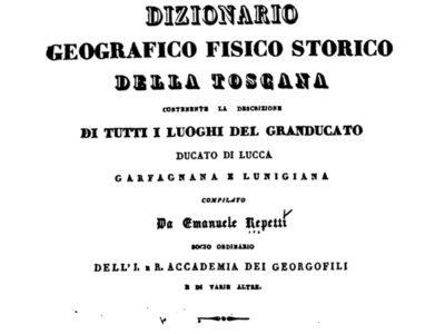 Dizionario Geografico Fisico Storico Della Toscana – Emanuele Repetti: Regesto Sulla Comunità Di Empoli