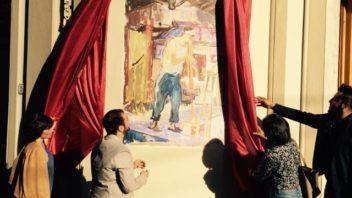 Presentato il Soffiatore di vetro, riproduzione fedele di un'opera di Sineo Gemignani