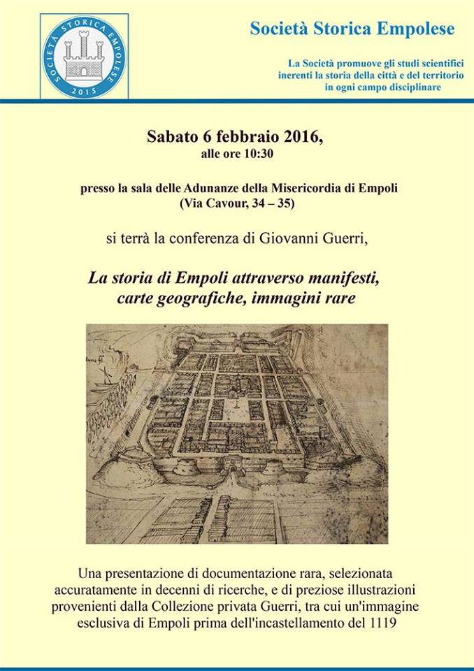 Conferenza Di Giovanni Guerri Sulla Storia Di Empoli Attraverso Manifesti, Carte Geografiche E Immagini Rare