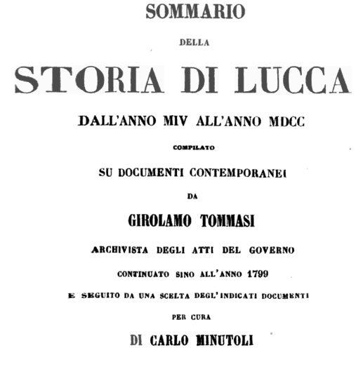 Appunti Di Storia Lucchese Per Empoli